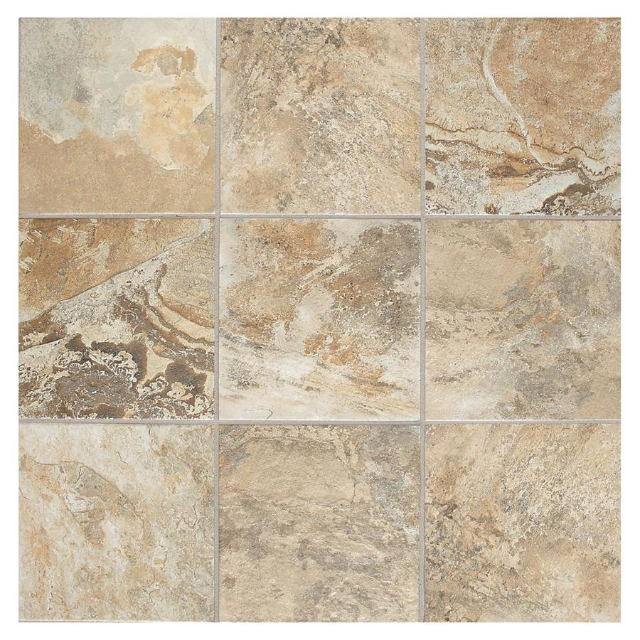 American Olean Kendal Slate 44-Pack Ambleside Beige Porcelain Floor and Wall Tile (Common: 6-in x 6-in; Actual: 5.81-in x 5.81-in)