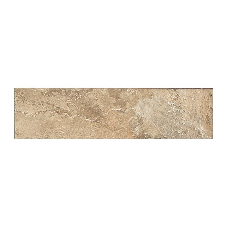 American Olean Kendal Slate Ambleside Beige Porcelain Bullnose Tile (Common: 3-in x 12-in; Actual: 3-in x 12-in)