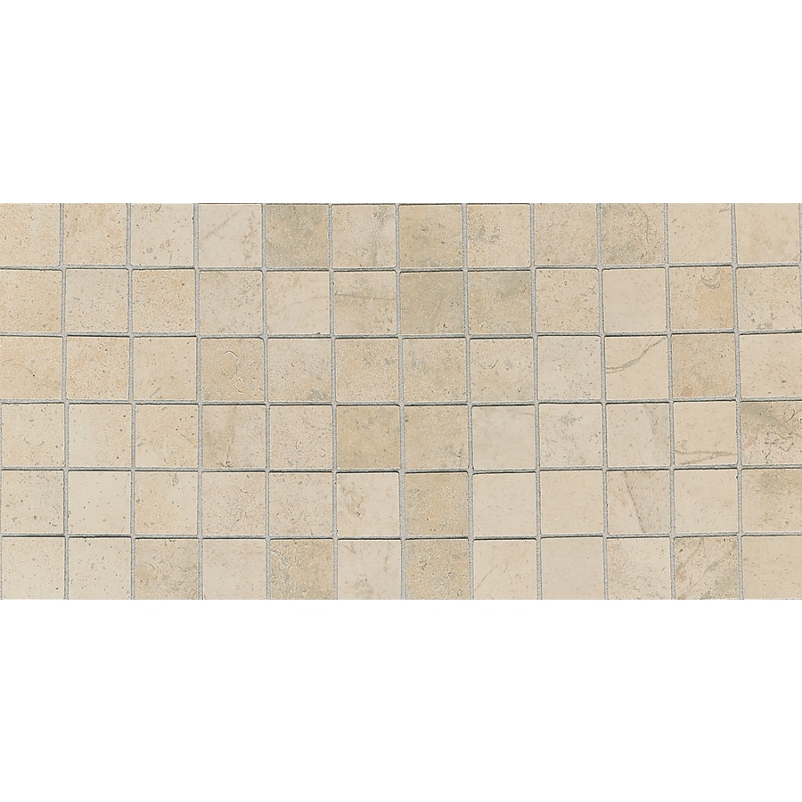 American Olean Costa Rei 12-Pack Sabbia Dorato Uniform Squares Mosaic Ceramic Floor Tile (Common: 12-in x 24-in; Actual: 12-in x 24-in)