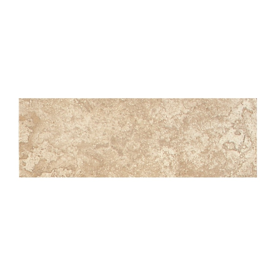 American Olean Montego Coastal Ivory Porcelain Bullnose Tile (Common: 3-in x 12-in; Actual: 2.95-in x 11.81-in)