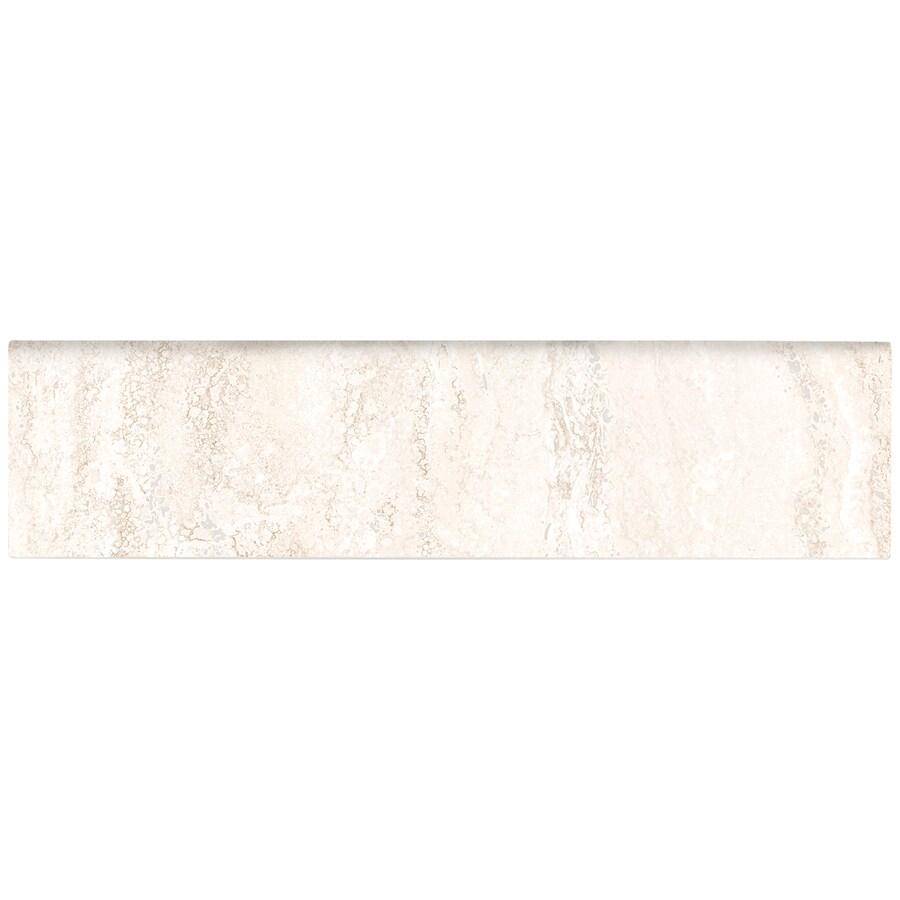 American Olean Salcedo Durango Cream Ceramic Bullnose Tile (Common: 3-in x 12-in; Actual: 3-in x 12-in)