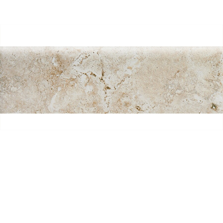 American Olean Bordeaux Creme Ceramic Bullnose Tile (Common: 3-in x 10-in; Actual: 3-in x 10-in)