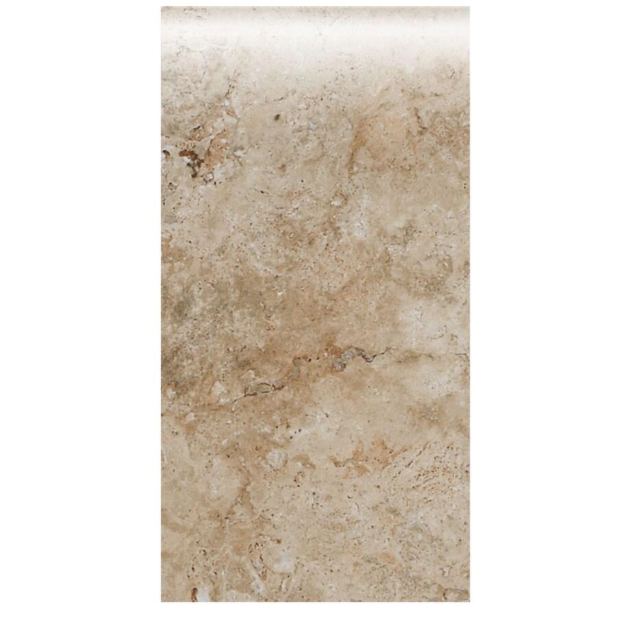 American Olean Bordeaux Chameau Ceramic Bullnose Tile (Common: 4-in x 8-1/2-in; Actual: 4.25-in x 8.5-in)