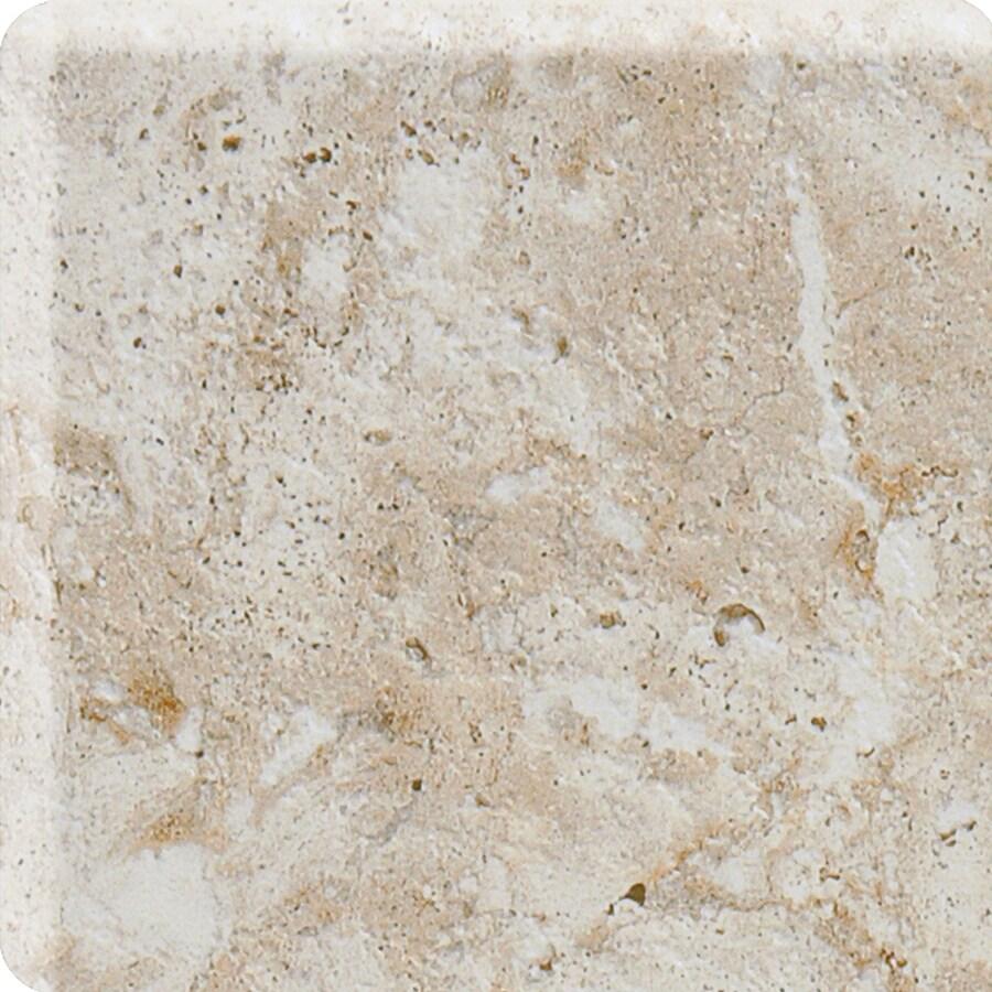American Olean Bordeaux Creme Ceramic Bullnose Tile (Common: 4-in x 8-1/2-in; Actual: 4.25-in x 8.5-in)