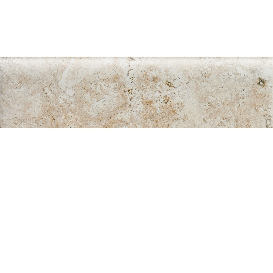 American Olean Bordeaux Cre Porcelain Bullnose Tile (Common: 3-in x 13-in; Actual: 3-in x 13.12-in)