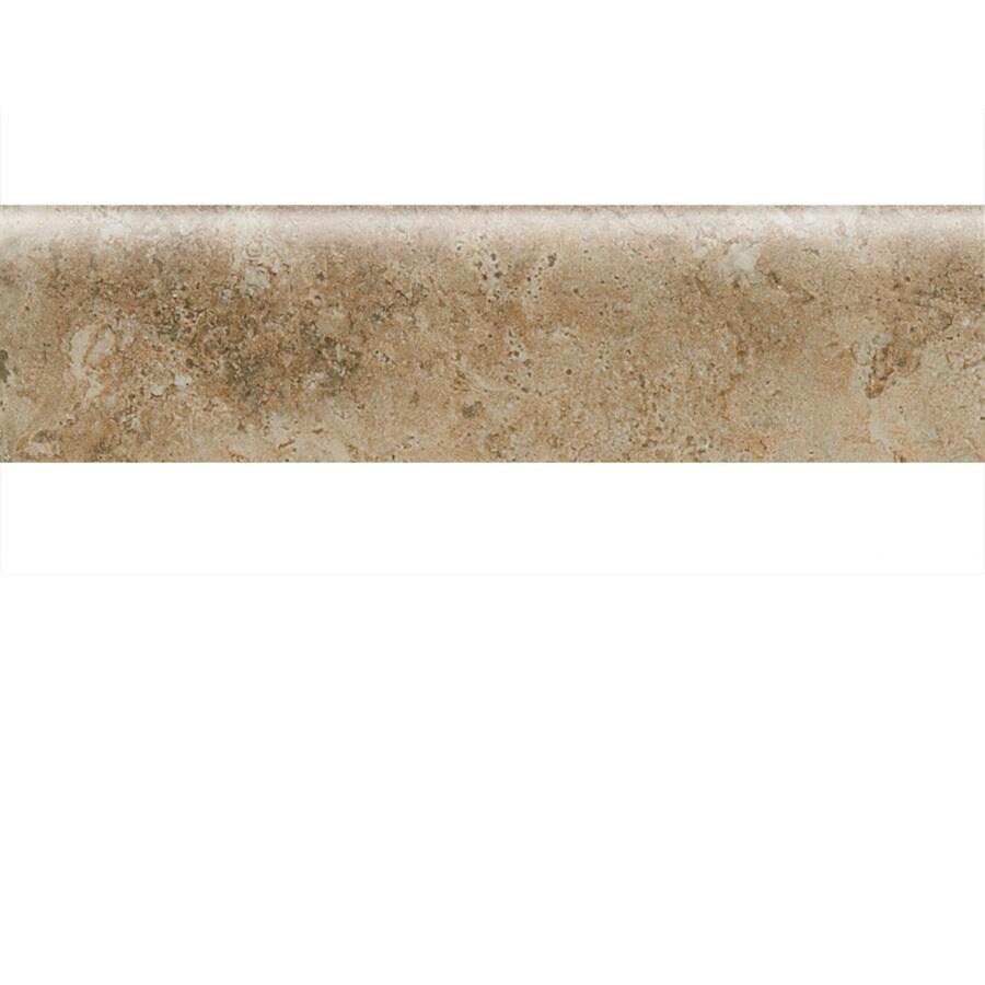 American Olean Bordeaux Marron Porcelain Bullnose Tile (Common: 3-in x 13-in; Actual: 3-in x 13.12-in)