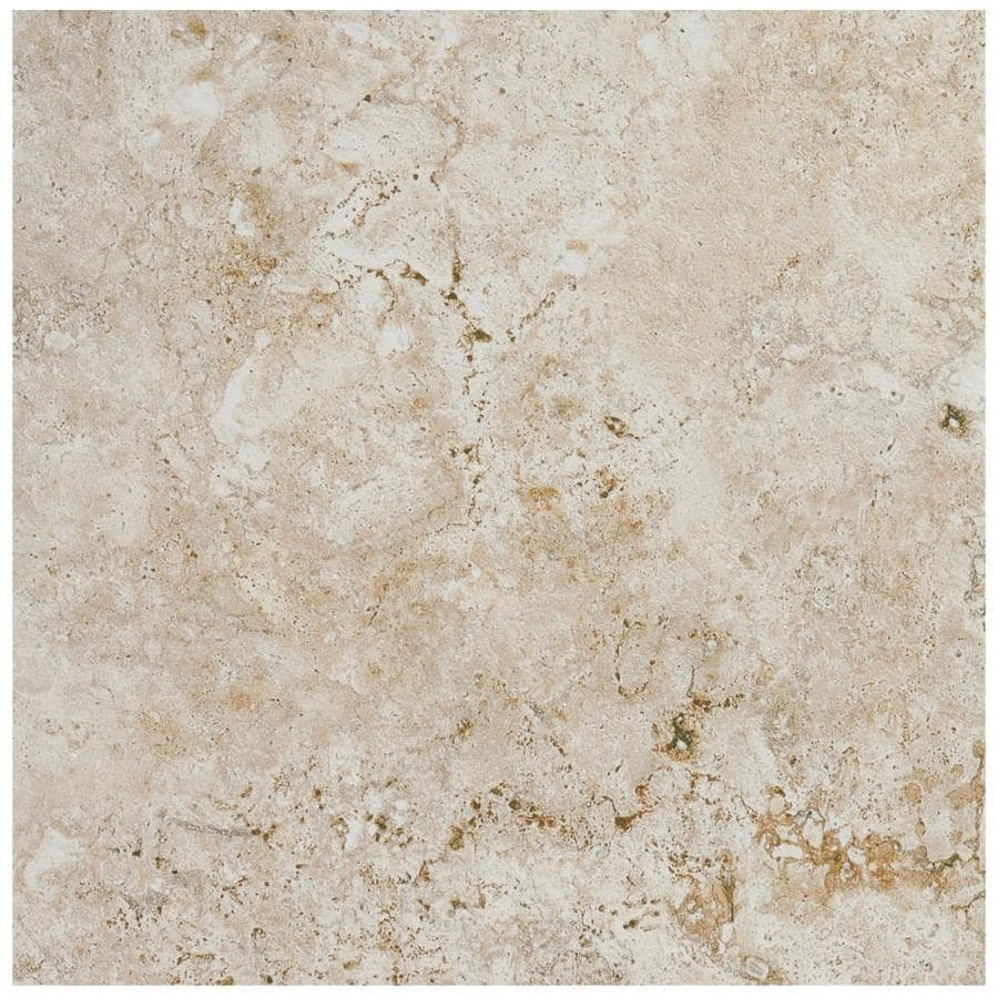 American Olean Bordeaux 54-Pack Creme Porcelain Floor and Wall Tile (Common: 6-in x 6-in; Actual: 6.5-in x 6.5-in)