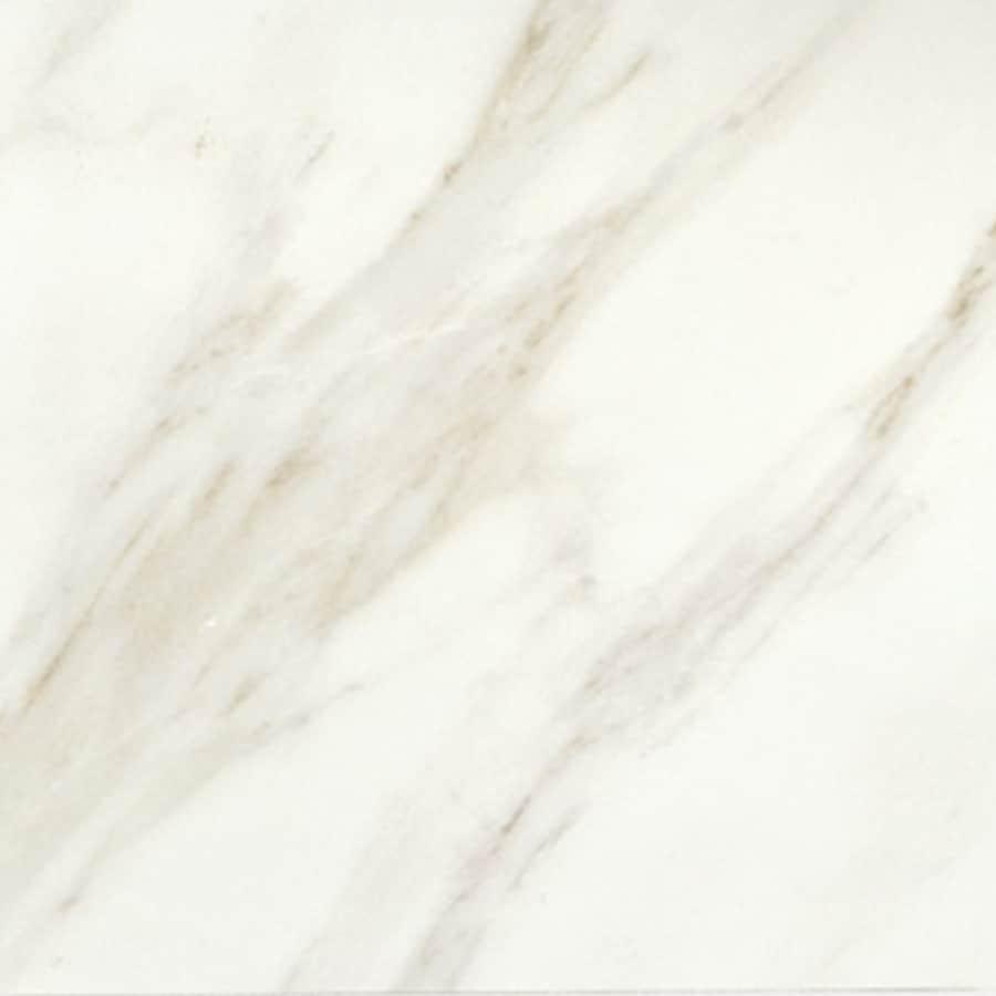 American Olean Mirasol 11-Pack Bianco Carrara Porcelain Floor and Wall Tile (Common: 12-in x 12-in; Actual: 11.5-in x 11.5-in)