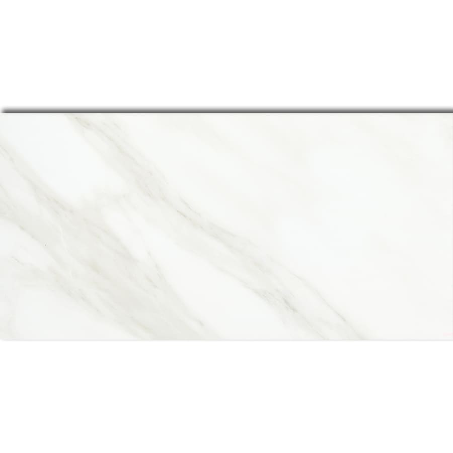 American Olean Mirasol 8-Pack Bianco Carrara Porcelain Floor and Wall Tile (Common: 12-in x 24-in; Actual: 11.62-in x 23.43-in)