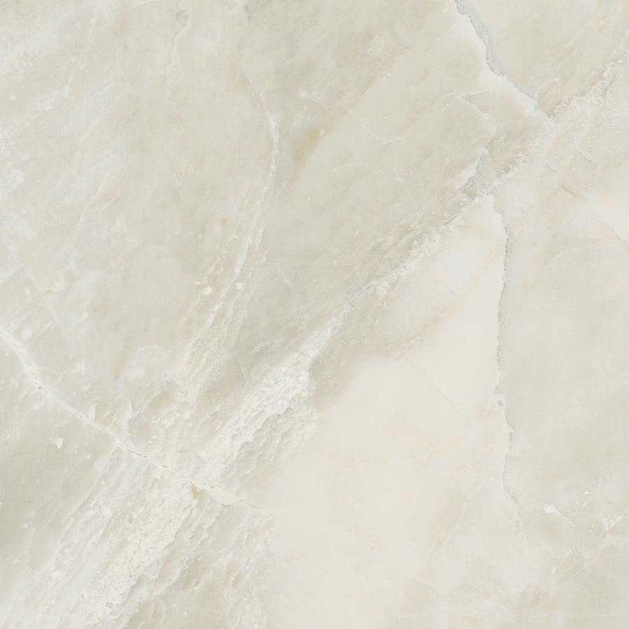 American Olean Mirasol 4-Pack Silver Marble Porcelain Floor and Wall Tile (Common: 23-in x 23-in; Actual: 23.43-in x 23.43-in)