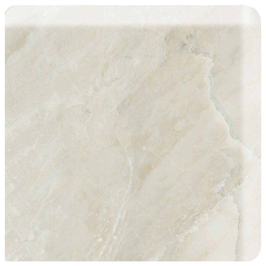 American Olean Mirasol Silver Marble Ceramic Bullnose Corner Tile (Common: 3-in x 3-in; Actual: 2.87-in x 2.87-in)