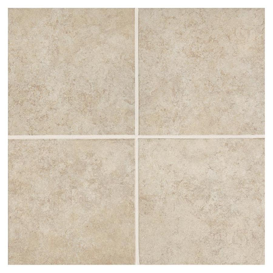 American Olean Castlegate 8-Pack Beige Porcelain Floor and Wall Tile (Common: 18-in x 18-in; Actual: 17.75-in x 17.75-in)