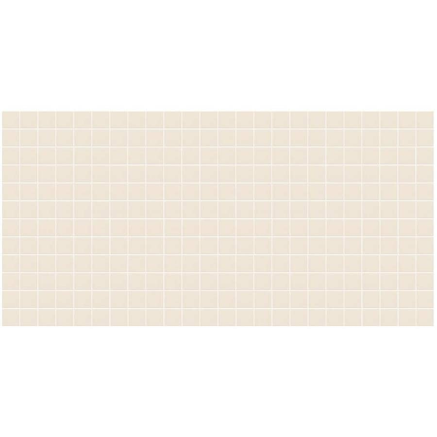 American Olean Unglazed Porcelain Mosaics 12-Pack Biscuit Uniform Squares Mosaic Thru Body Porcelain Floor and Wall Tile (Common: 12-in x 24-in; Actual: 11.93-in x 23.93-in)