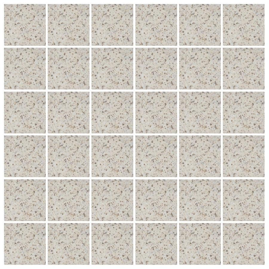 American Olean Unglazed Porcelain Mosaics 12-Pack Buff Granite Uniform Squares Mosaic Thru Body Porcelain Floor and Wall Tile (Common: 12-in x 24-in; Actual: 11.93-in x 23.93-in)