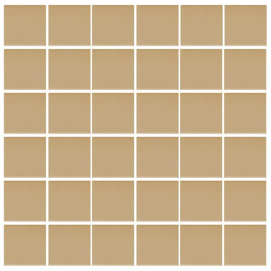 American Olean Unglazed Porcelain Mosaics 12-Pack Cappuccino Uniform Squares Mosaic Thru Body Porcelain Floor and Wall Tile (Common: 12-in x 24-in; Actual: 11.93-in x 23.93-in)