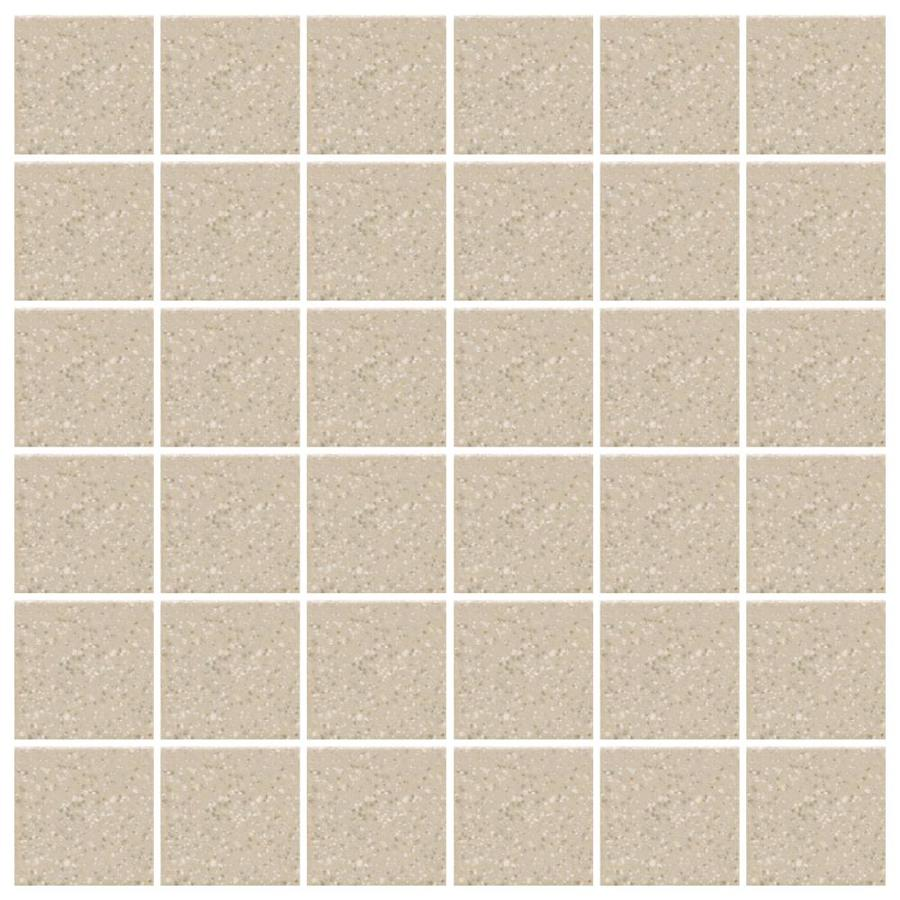 American Olean Unglazed Porcelain Mosaics 12-Pack Willow Speckled Uniform Squares Mosaic Thru Body Porcelain Floor and Wall Tile (Common: 12-in x 24-in; Actual: 11.93-in x 23.93-in)