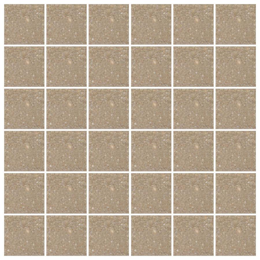 American Olean Unglazed Porcelain Mosaics Abrasive 12-Pack Cocoa Uniform Squares Mosaic Thru Body Porcelain Floor and Wall Tile (Common: 12-in x 24-in; Actual: 11.93-in x 23.93-in)