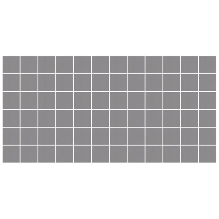 American Olean Unglazed Porcelain Mosaics 12-Pack Storm Gray Uniform Squares Mosaic Thru Body Porcelain Floor and Wall Tile (Common: 12-in x 24-in; Actual: 11.93-in x 23.93-in)