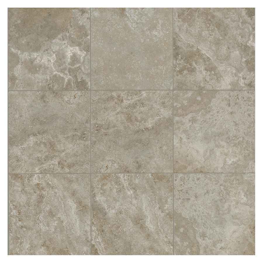 American Olean Stone Claire 54-Pack Ashen Porcelain Floor and Wall Tile (Common: 6-in x 6-in; Actual: 6.43-in x 6.43-in)