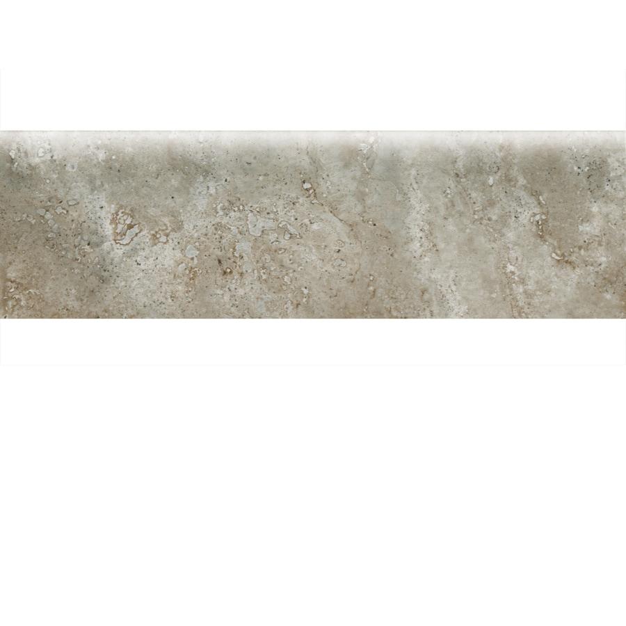 American Olean Stone Claire Ashen Ceramic Bullnose Tile (Common: 3-in x 10-in; Actual: 3-in x 10-in)