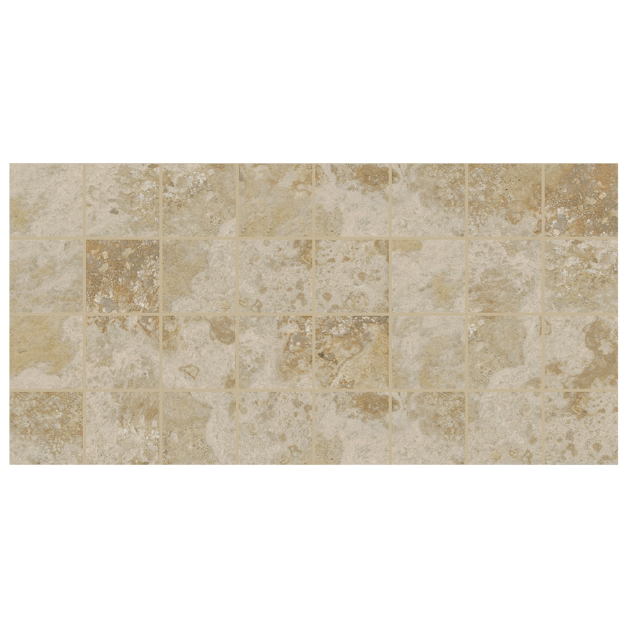 American Olean Stone Claire 12-Pack Bluff Uniform Squares Mosaic Ceramic Floor and Wall Tile (Common: 12-in x 24-in; Actual: 11.93-in x 23.93-in)