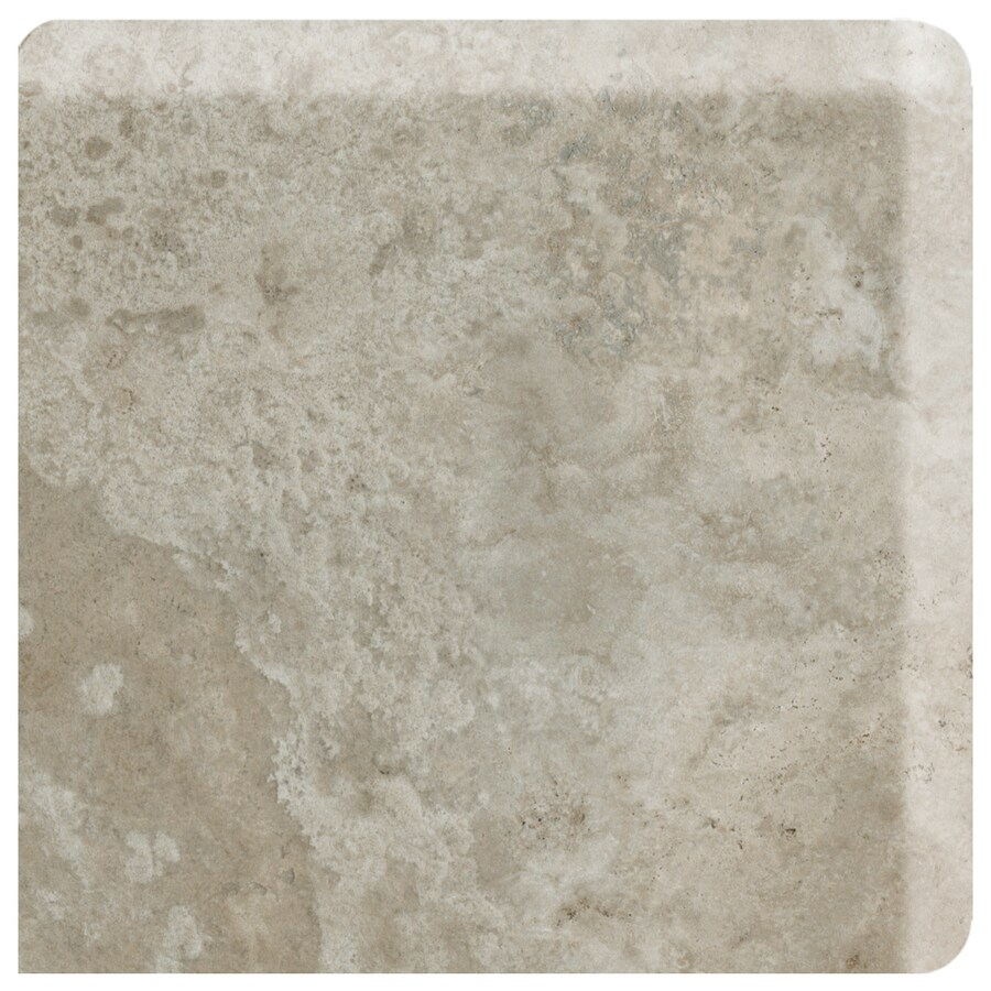 American Olean Stone Claire Ashen Ceramic Bullnose Corner Tile (Common: 3-in x 3-in; Actual: 3-in x 3-in)