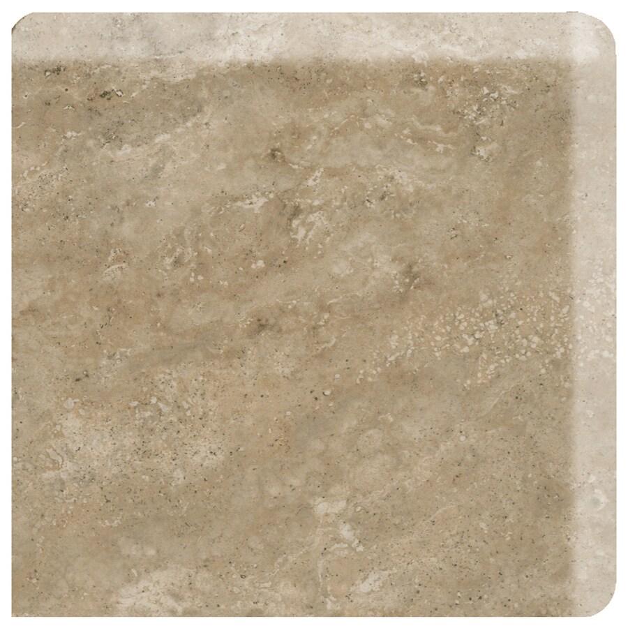 American Olean Stone Claire Russet Ceramic Bullnose Corner Tile (Common: 3-in x 3-in; Actual: 3-in x 3-in)