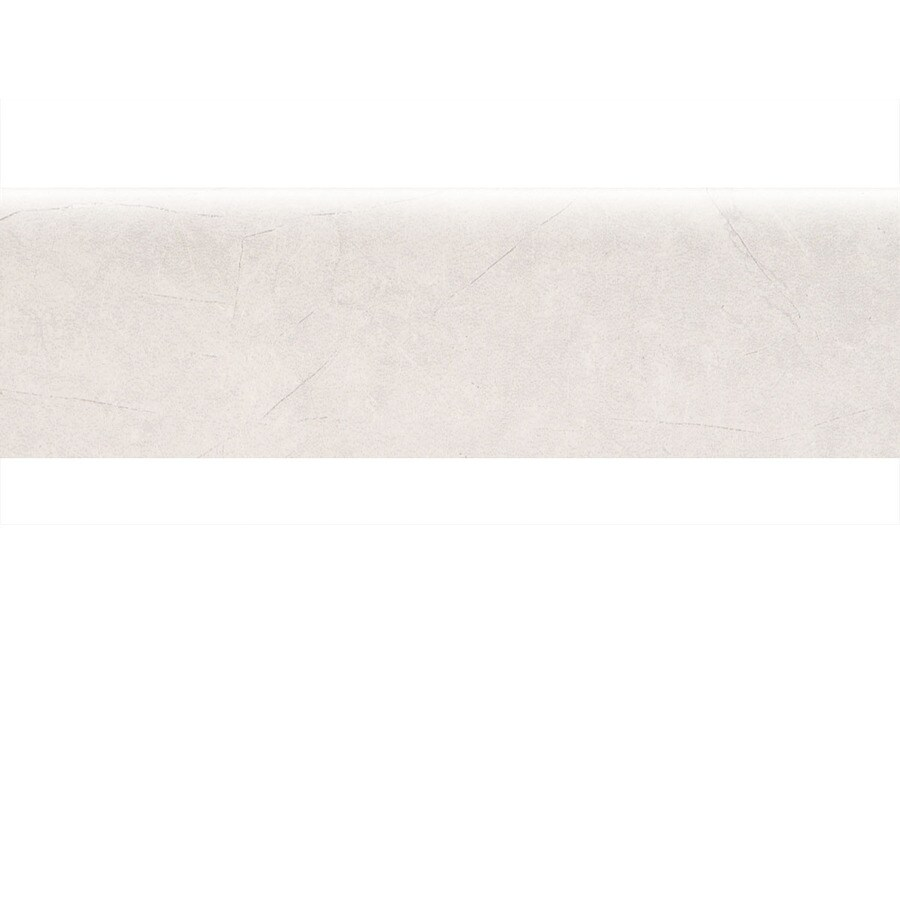 American Olean Bevalo Dove Ceramic Bullnose Tile (Common: 3-in x 10-in; Actual: 2.99-in x 10-in)