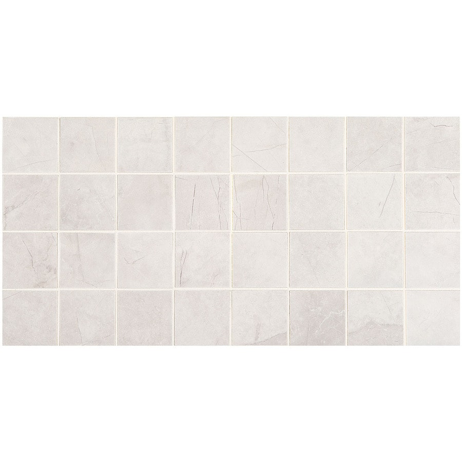 American Olean Bevalo 12-Pack Dove Uniform Squares Mosaic Ceramic Floor and Wall Tile (Common: 12-in x 24-in; Actual: 11.93-in x 23.93-in)