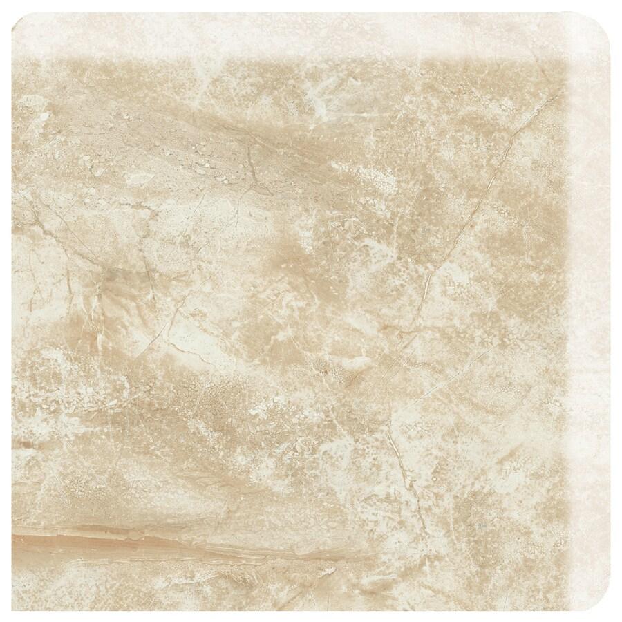 American Olean Danya Dove Ceramic Bullnose Corner Tile (Common: 3-in x 3-in; Actual: 3-in x 3-in)
