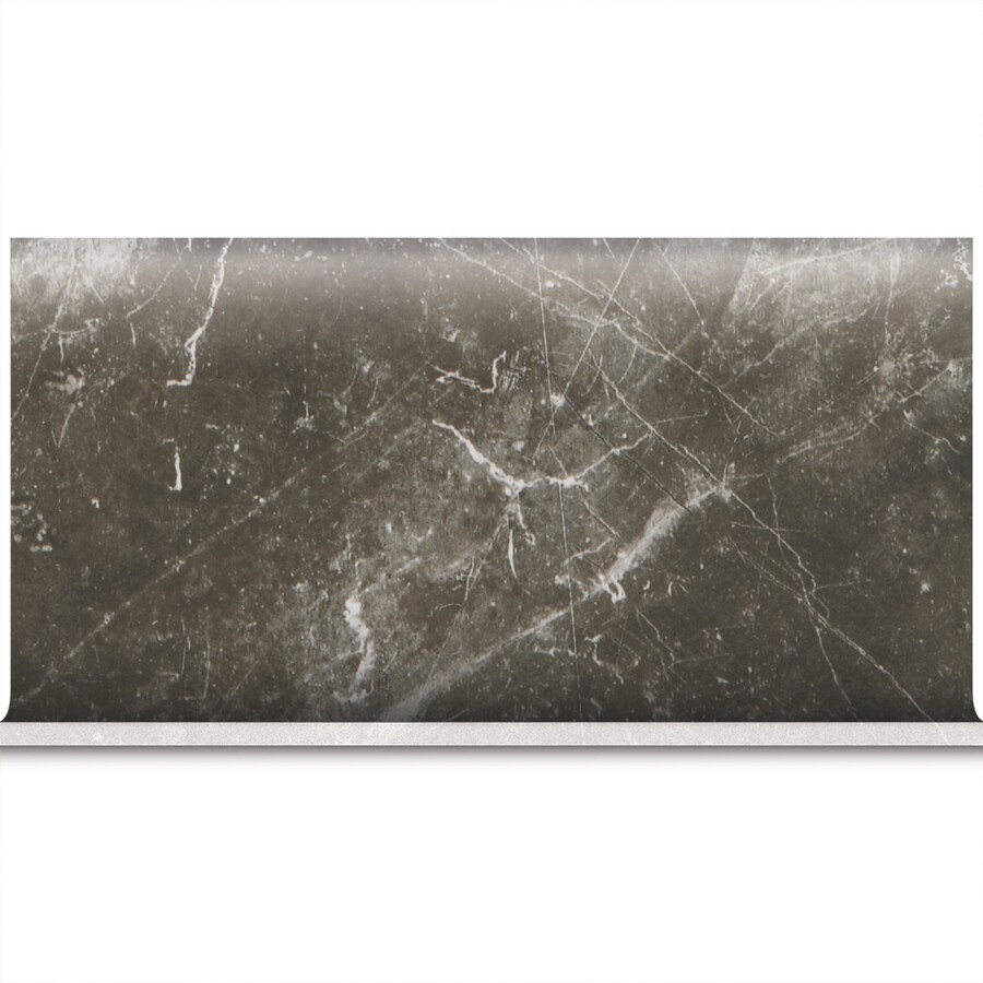 American Olean Bevalo Charcoal Ceramic Bullnose Tile (Common: 6-in x 12-in; Actual: 6-in x 12-in)