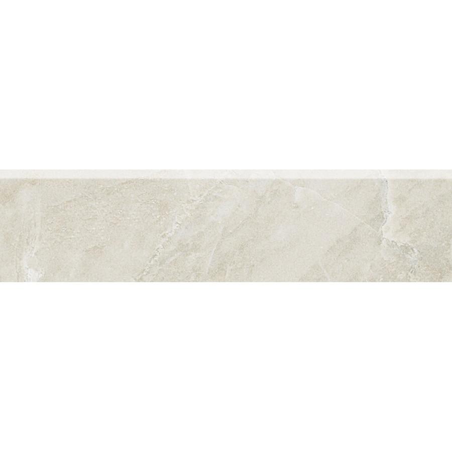 American Olean Mirasol Silver Marble Porcelain Bullnose Tile (Common: 3-in x 12-in; Actual: 2.87-in x 12-in)
