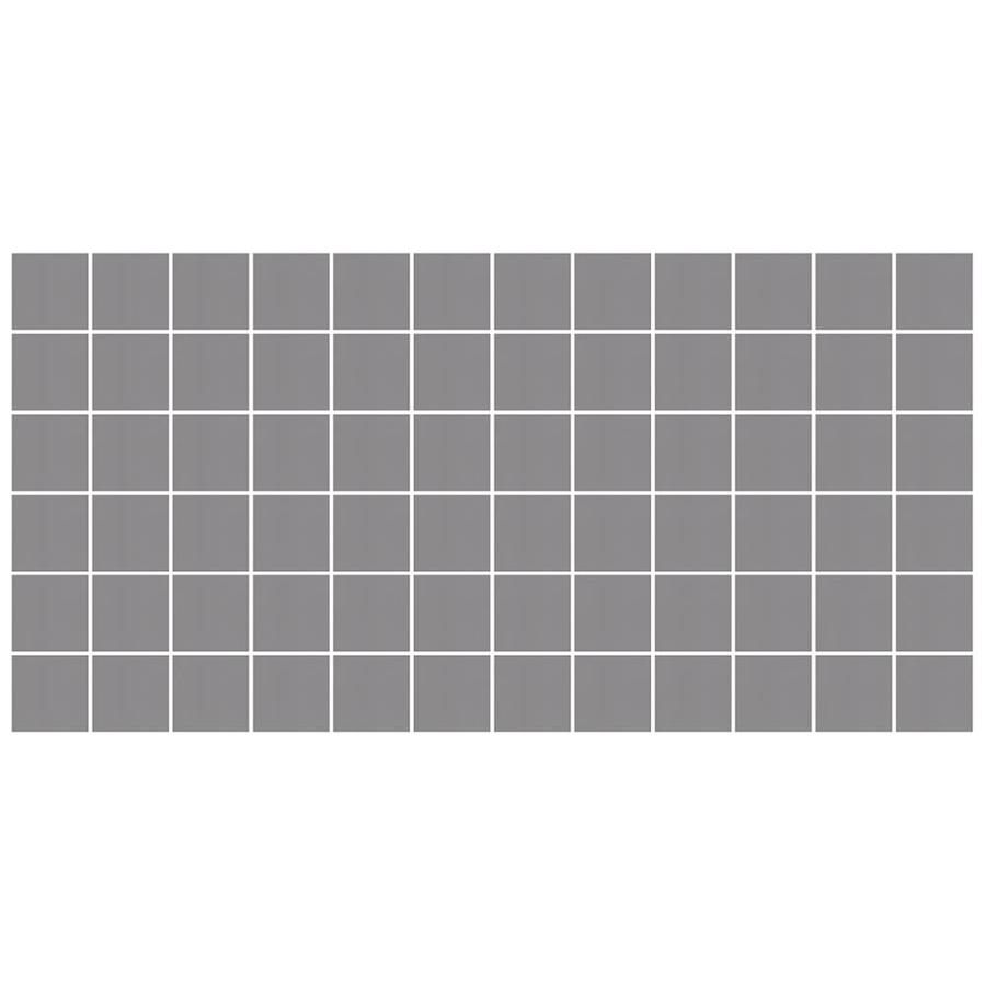 American Olean Unglazed Porcelain Mosaics Abrasive 12-Pack Storm Gray Uniform Squares Mosaic Thru Body Porcelain Floor and Wall Tile (Common: 12-in x 24-in; Actual: 11.93-in x 23.93-in)