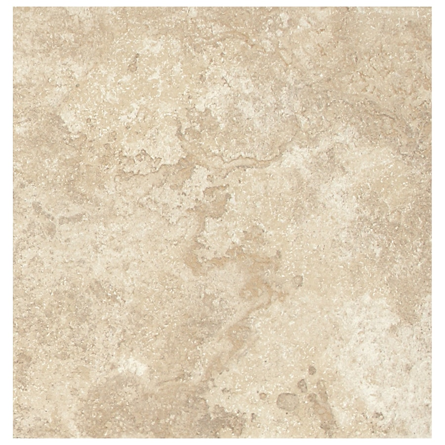 American Olean Montego 8-Pack Coastal Ivory Porcelain Floor Tile (Common: 18-in x 18-in; Actual: 17.81-in x 17.81-in)
