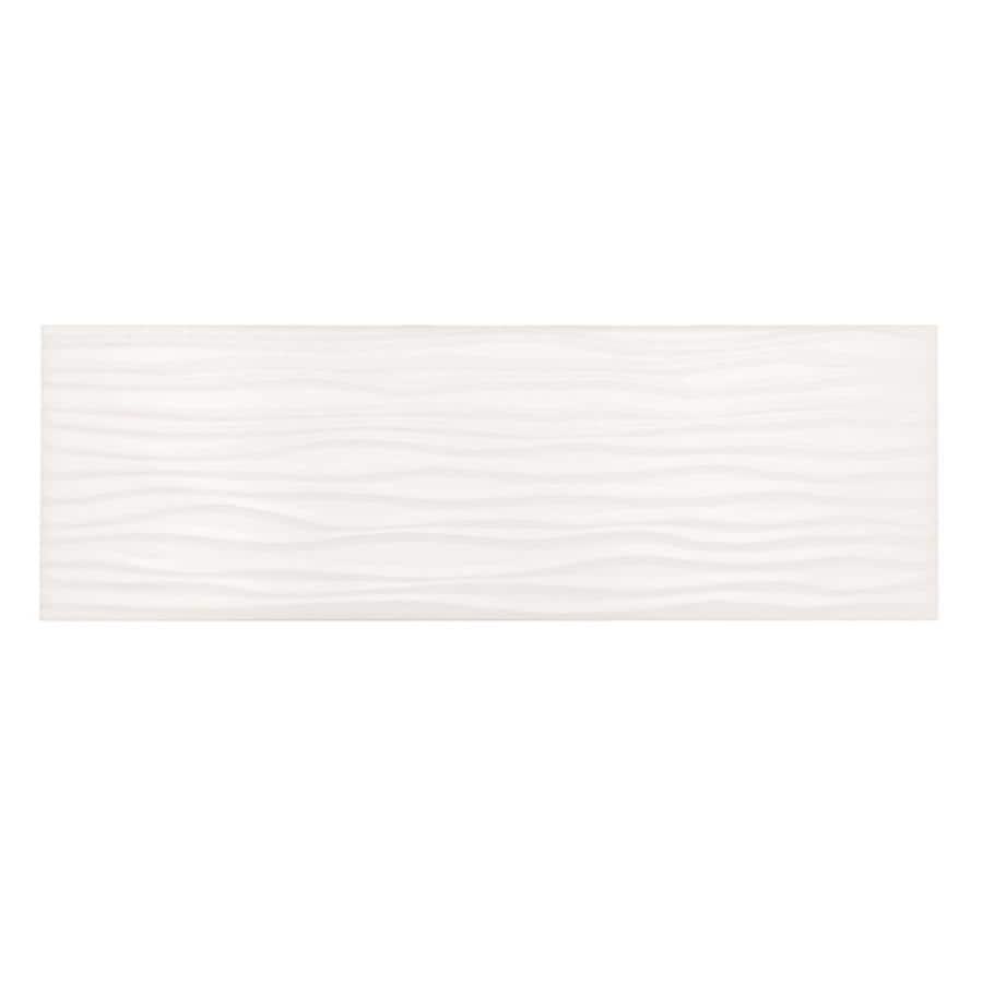 American Olean Urban Canvas 28-Pack Matte Designer White Ceramic Wall Tile (Common: 4-in x 12-in; Actual: 4.25-in x 12.75-in)