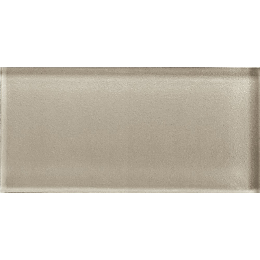 American Olean Color Appeal Oxford Tan Glass Wall Tile (Common: 3-in x 6-in; Actual: 2.87-in x 5.87-in)