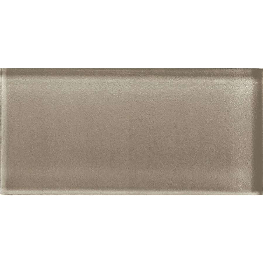 American Olean Color Appeal Plaza Taupe Glass Wall Tile (Common: 3-in x 6-in; Actual: 2.87-in x 5.87-in)