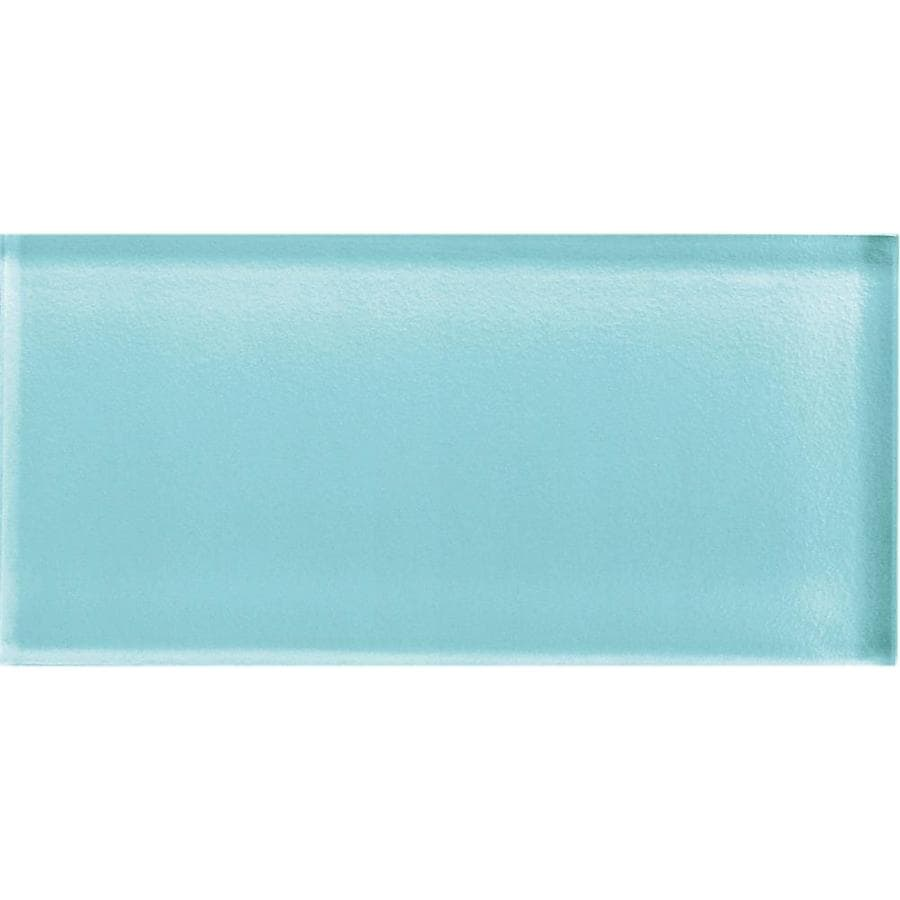 American Olean Color Appeal Fountain Blue Glass Wall Tile (Common: 3-in x 6-in; Actual: 2.87-in x 5.87-in)