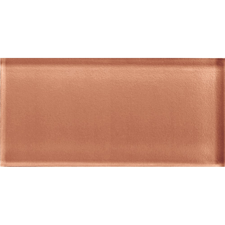 American Olean Color Appeal Brandied Melon Glass Wall Tile (Common: 3-in x 6-in; Actual: 2.87-in x 5.87-in)