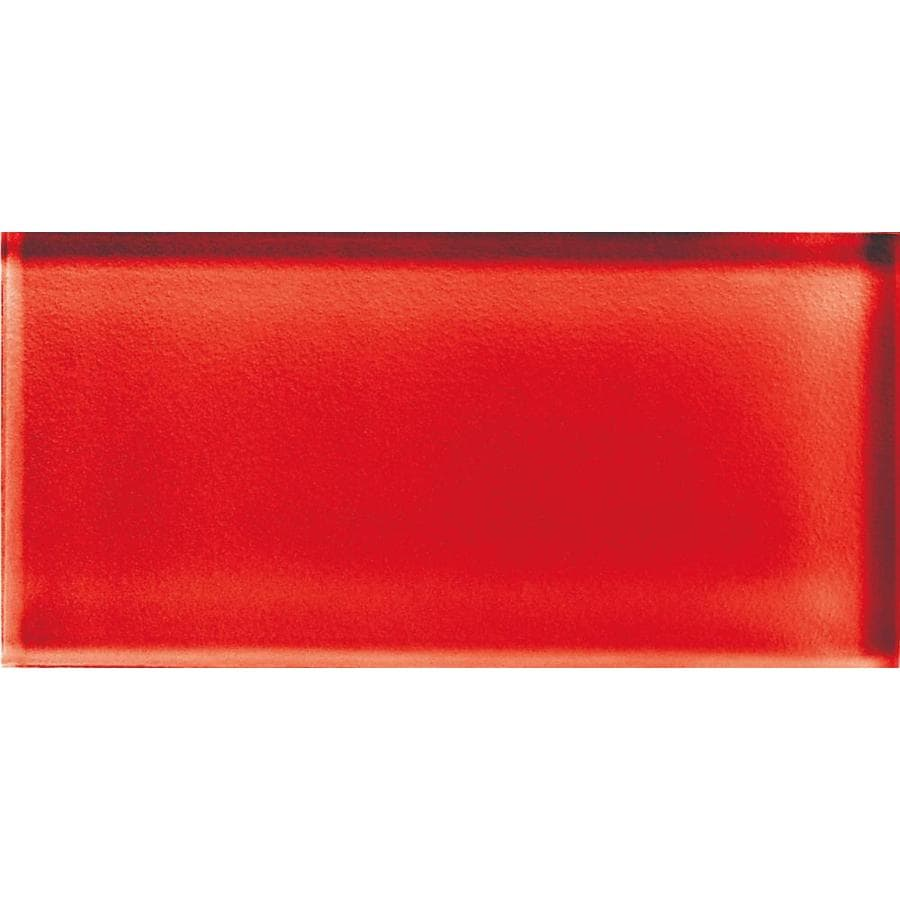 American Olean Color Appeal Cherry Glass Wall Tile (Common: 3-in x 6-in; Actual: 2.87-in x 5.87-in)