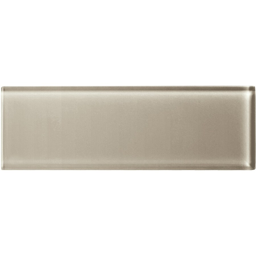 American Olean Color Appeal Oxford Tan Glass Wall Tile (Common: 4-in x 12-in; Actual: 3.87-in x 11.75-in)