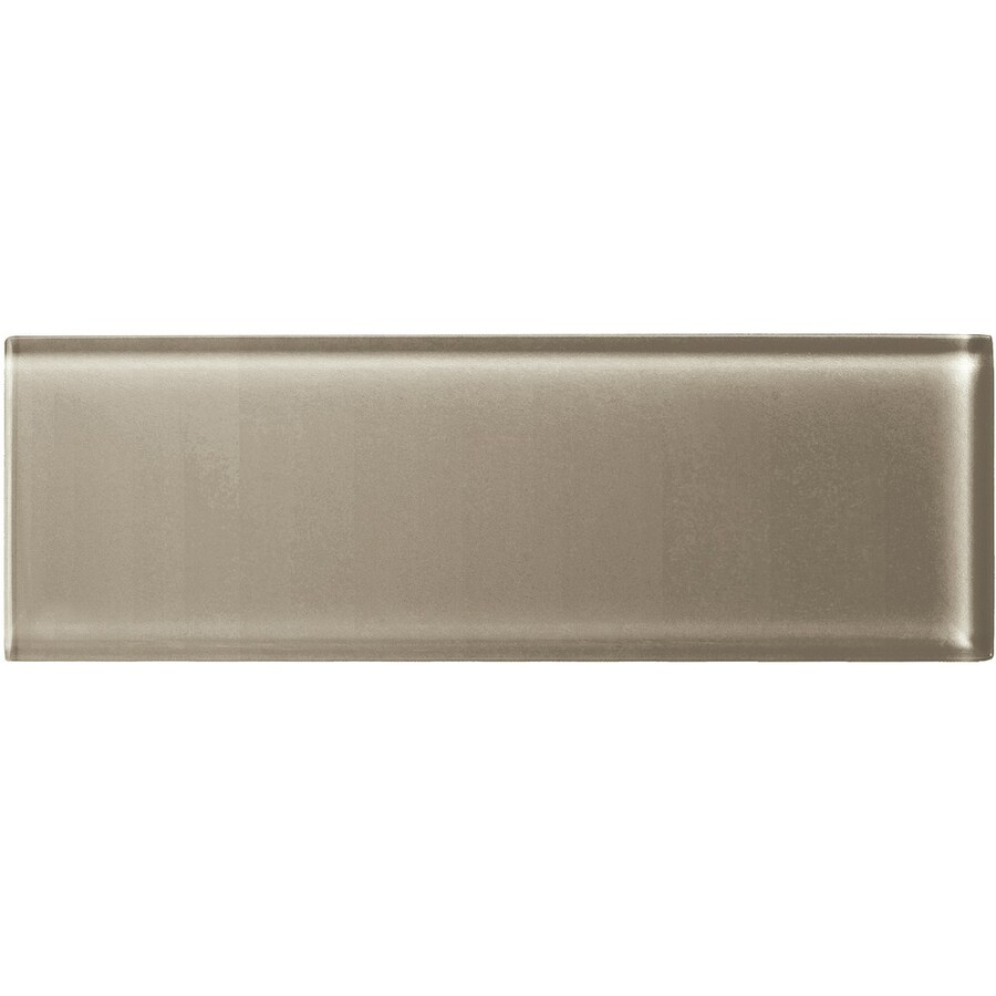 American Olean Color Appeal Plaza Taupe Glass Wall Tile (Common: 4-in x 12-in; Actual: 3.87-in x 11.75-in)