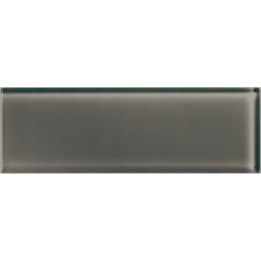 American Olean Color Appeal Mink Glass Wall Tile (Common: 4-in x 12-in; Actual: 3.87-in x 11.75-in)
