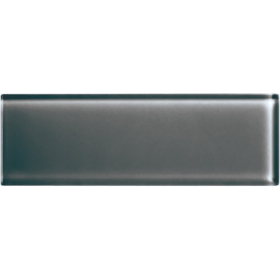 American Olean Color Appeal Charcoal Gray Glass Wall Tile (Common: 4-in x 12-in; Actual: 3.87-in x 11.75-in)