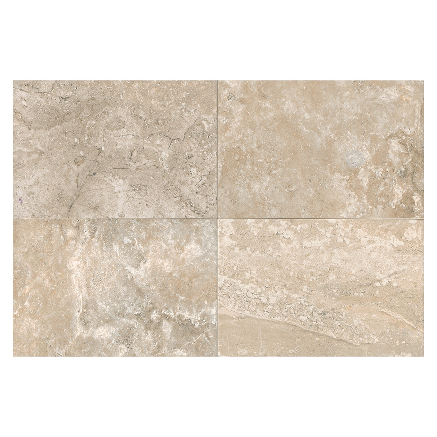 American Olean Laurel Heights 8-Pack Elevated Beige Porcelain Floor and Wall Tile (Common: 12-in x 24-in; Actual: 23.81-in x 11.81-in)