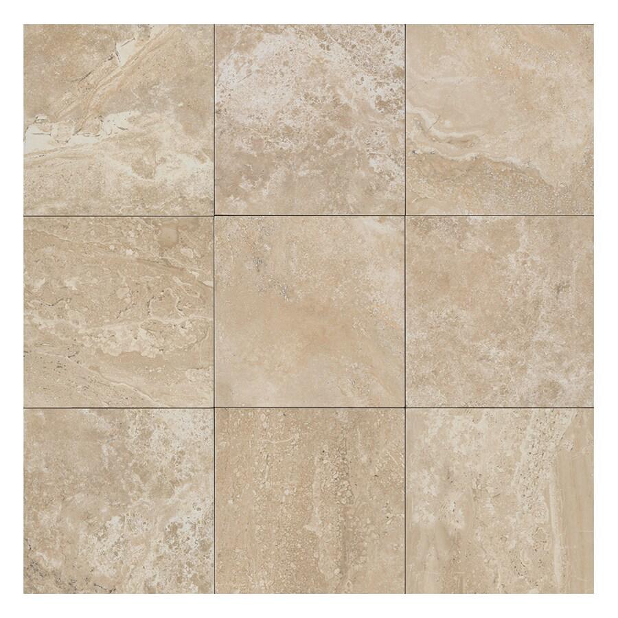 American Olean Laurel Heights 4-Pack Elevated Beige Porcelain Floor and Wall Tile (Common: 24-in x 24-in; Actual: 23.81-in x 23.81-in)