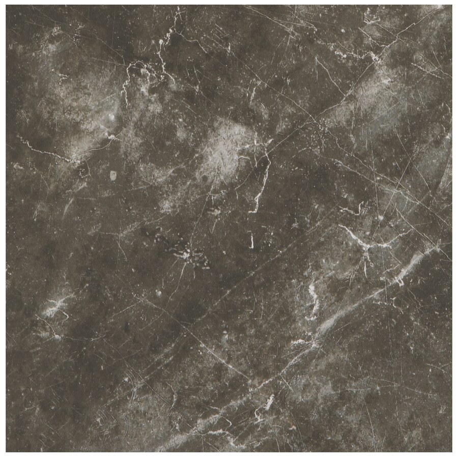 American Olean Bevalo 15-Pack Charcoal Porcelain Floor and Wall Tile (Common: 12-in x 12-in; Actual: 11.81-in x 11.81-in)