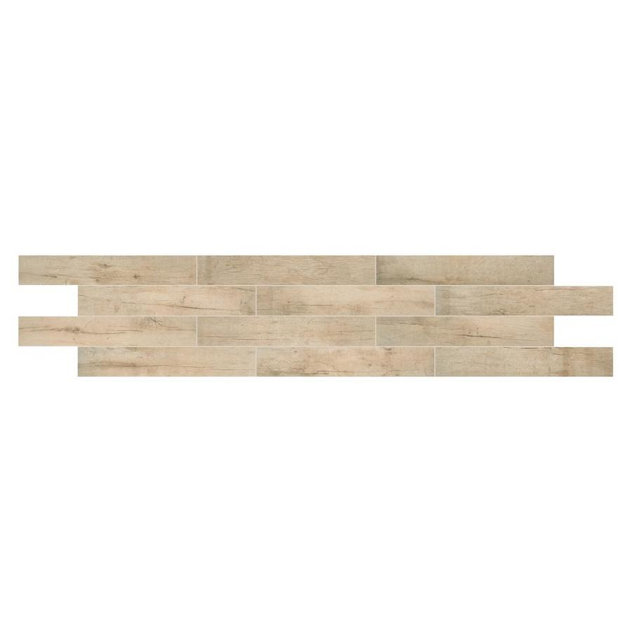 American Olean Historic Bridge 9-Pack Upper Ferry Wood Look Porcelain Floor and Wall Tile (Common: 6-in x 36-in; Actual: 35.43-in x 5.87-in)