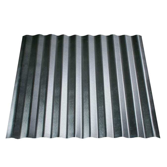 Metal Sales 24 Ft X 8 Ft Corrugated Stainless Steel Steel Roof Panel In The Roof Panels Department At Lowes Com