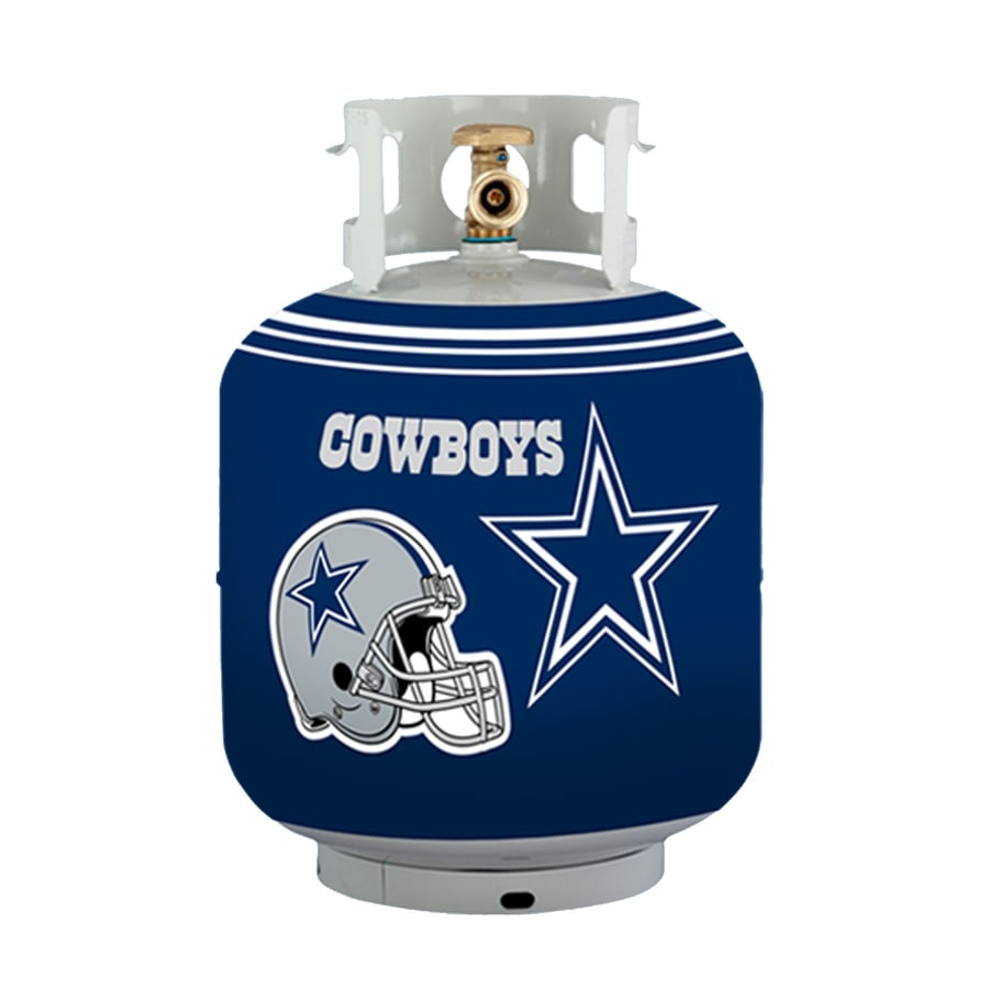 Bottle Skinz 16-in H x 34-in dia Blue Polyester Dallas Cowboys Propane Tank Cover